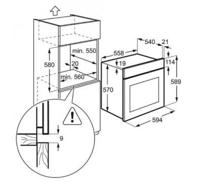 Электрический духовой шкаф Electrolux EZB 52410 AX